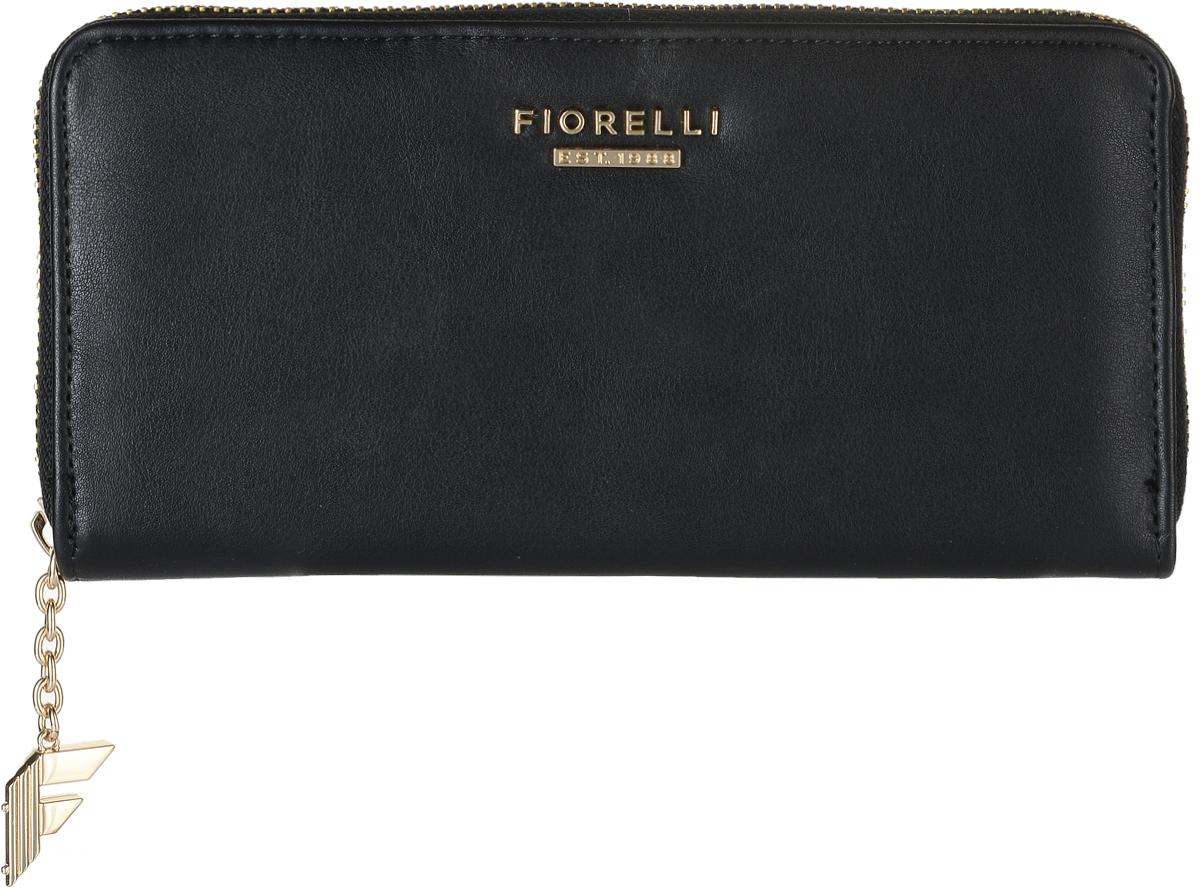 Кошелек женский Fiorelli, цвет: черный. 0830 FSICE 8508Современный кошелек оригинального дизайна Fiorelli изготовлен из эко-кожи с интересным дизайном и оформлен металлической пластиной с надписью в виде названия бренда. Внутри два отделения для купюр, двенадцать карманов для карт и один большой карман для монет, который застегивается на молнию. Так же имеется два скрытых кармана. Снаружи на задней стенке накладной открытый карман. Застегивается изделие на застежку-молнию.Такой кошелек станет замечательным подарком человеку, ценящему качественные и практичные вещи.
