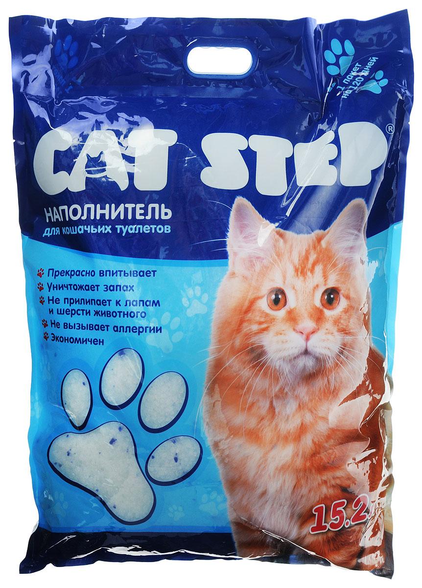 """Наполнитель для кошачьих туалетов """"Cat Step"""", силикагель, 15,2 л НК-018"""