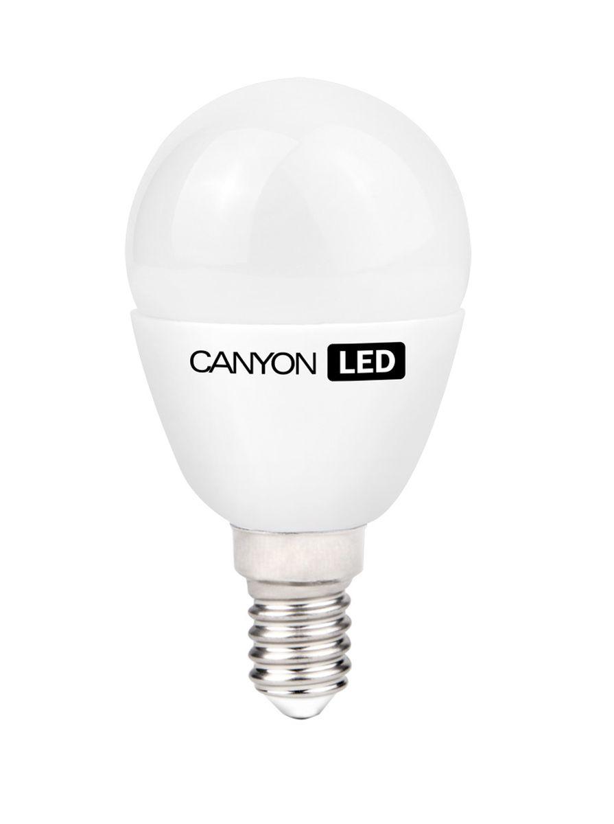 Набор светодиодных ламп Canyon LED PE14FR6W230VW, 10 шт.RSP-202SCANYON LED P45 E14 6W 220V 2700K, набор 10шт.Маленькая лампочка шаровидной формы имеет компактные габариты и представлена с разным видами цоколя. Лампа излучает теплый свет и обеспечивает значительную экономию энергии, что минимизирует затраты на обслуживание. Доступна с матовой и прозрачной колбой