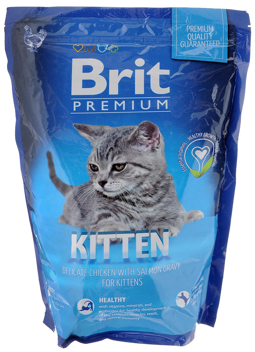 Корм сухой Brit Premium для котят, с курицей в соусе из лосося, 800 г513031_для котятКорм Brit Premium - это рацион премиум-класса, который создан специально для беременных кошек и новорожденных малышей. В его составе содержатся все жизненно важные витамины и микроэлементы, которые укрепляют все внутренние органы и системы домашних питомцев. Нежным котятам нужно немало сил и энергии для развития, роста, а их мамам - внутренняя поддержка и правильное питание. Поэтому в маленьких хрустящих кусочках корма содержится достаточное количество витаминов, минералов, питательных веществ, чтобы удовлетворить суточную потребность. Их содержание максимально сбалансировано, поэтому они легко усваиваются неокрепшей пищеварительной системой. Товар сертифицирован.