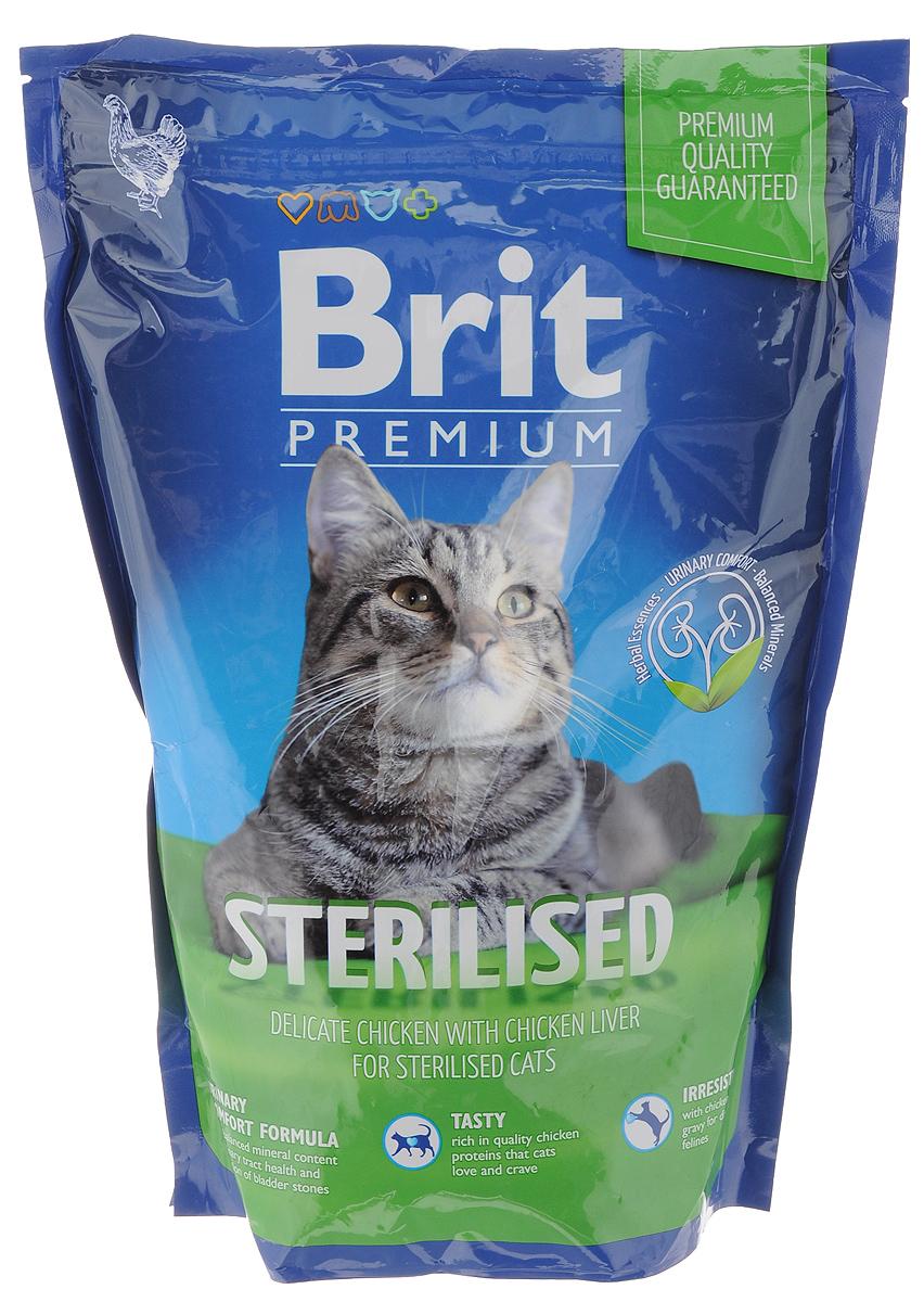 Корм сухой Brit Premium Cat Sterilised для кастрированных котов и стерилизованных кошек, нежная курица с печенью, 800 г0120710Сухой корм Brit Premium Cat Sterilised– это отлично сбалансированное питание, изготовленное из высококачественных компонентов, которые содержат все необходимые для полноценной жизни кошки питательные и минеральные вещества, витамины и микроэлементы, а также отличаются хорошими вкусовыми качествами. Специально разработан для кастрированных котов и стерилизованных кошек. Товар сертифицирован.