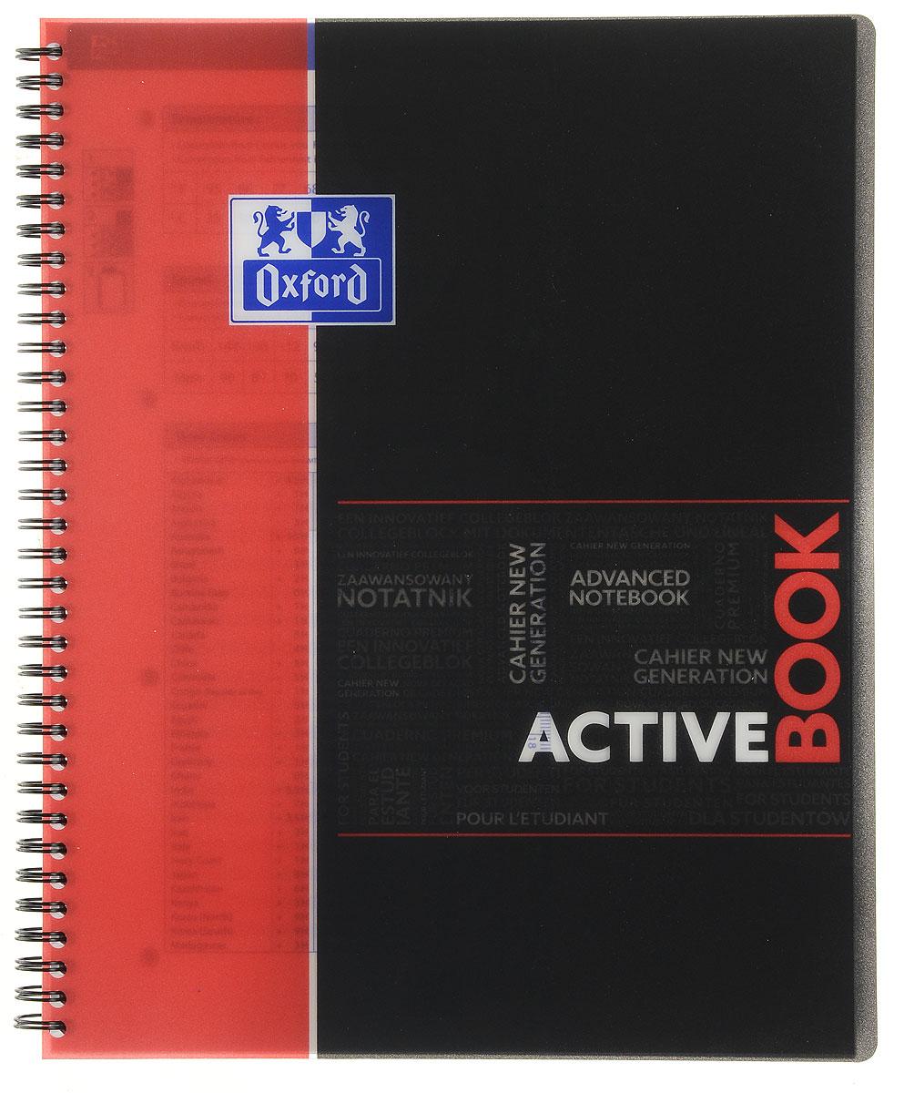 Oxford Тетрадь Sos Notes Activebook 80 листов в клетку цвет красныйна 400019520, 271400Красивая и практичная тетрадь Oxford Sos Notes Activebook отлично подойдет для ведения и хранения заметок. Тетрадь формата А4+ состоит из 80 листов белой бумаги и четкой яркой линовкой в клетку. Обложка тетради выполнена из плотного пластика черно-красного цвета. Благодаря специальным меткам на каждой странице и бесплатному приложению SOS Notes для вашего телефона или планшета, вы сможете всегда легко перенести ваши записи и зарисовки с бумажной страницы в смартфон или на компьютер. Это прекрасное сочетание тетради и органайзера, так как включает в себя внутренний кармашек для хранения документов и закладку-линейку со справочной информацией.