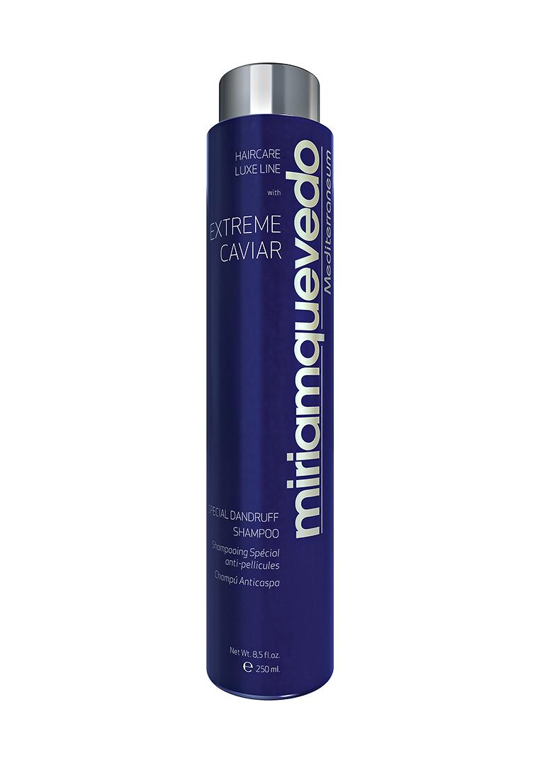 Miriam Quevedo Шампунь против перхоти с экстрактом черной икры (Extreme Caviar Special Dandruff Shampoo) 250 млMQ334Для волос любого типа, страдающих от проявления сухой или жирной перхоти, этот шампунь станет идеальным решением. В его состав входят витамины группы В и альфа-гидроксикислоты, которые помогают восстановлению кератина в структуре волоса и ликвидируют процесс ороговения эпидермиса. Волосы обретают естественный блеск и мягкость благодаря протеинам кератина, кокосовому и оливковому маслам. Экстракт черной икры дает антирецидивное действие на длительный срок.