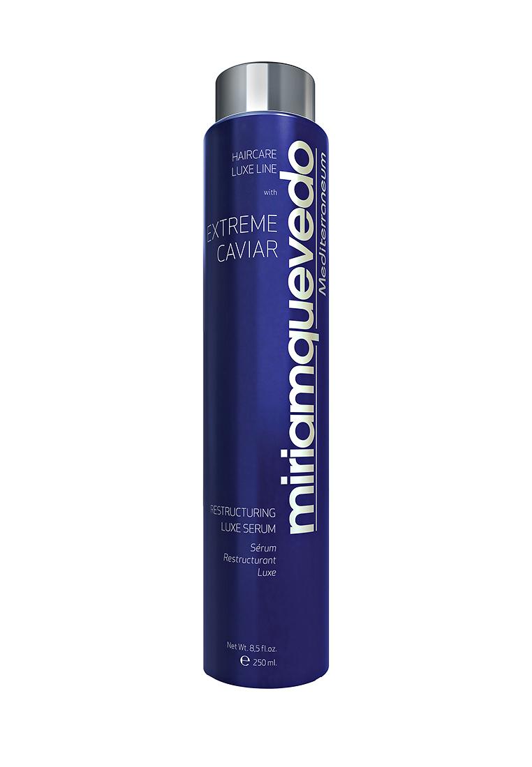 Miriam Quevedo Восстанавливающая сыворотка-люкс для волос с экстрактом черной икры (Extreme Caviar Restructuring Luxe Serum) 250 млFS-00103Сыворотка создана для постоянного ухода за волосами всех типов, особенно для окрашенных, осветленных и волос с химической завивкой. В формулу средства входят изофлавоны из соевых бобов и витамины группы В из пивных дрожжей, которые обладают свойствами кондиционера. Волосы легко расчесываются и поддаются укладке. Экстракт черной икры, богатый липопротеинами, интенсивно восстановит структуру ослабленного волоса, подарит природный блеск и шелковистую мягкость.