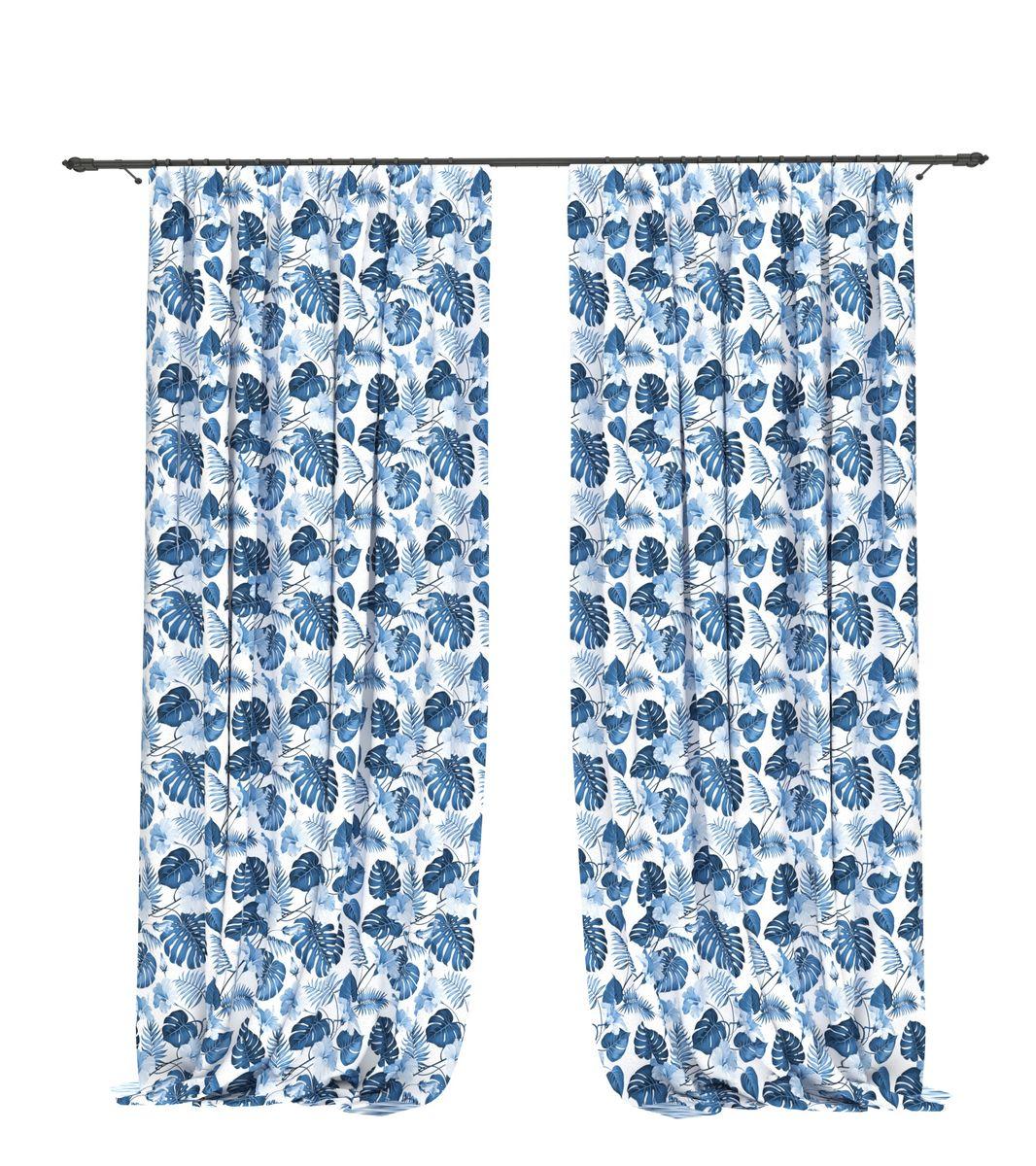 Комплект фотоштор Bellino Home Гиоцинтовая монстера, высота 260 см. 05515-ФШ-ГБ-00105515-ФШ-ГБ-001Комплект фотоштор BELLINO HOME, коллекция Тропики. Рожденный вдоль экватора тропический стиль смешивает множество культур и традиций в единое целое. Эта коллекция подобно котлу, в котором варятся туземные материалы, элегантная простота, экзотические мотивы и море солнечного света. Будто бы вечные каникулы: здесь замедляется время и замирает суета мегаполиса. Богатое разнообразие флоры и фауны способно преобразить атмосферу любого интерьера. Крепление на карниз при помощи шторной ленты на крючки. В комплекте: Портьера: 2 шт. Размер (ШхВ): 145 см х 260 см. Рекомендации по уходу: стирка при 30 градусах гладить при температуре до 150 градусов Изображение на мониторе может немного отличаться от реального.
