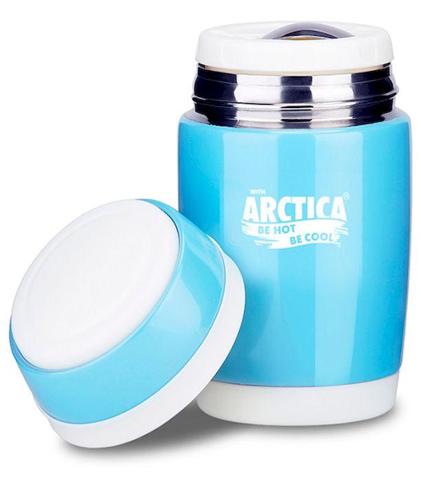 """Термос-бочонок """"Арктика"""", цвет: голубой, 480 мл, крышка-тарелка, 409-480 409-480 Арктика"""