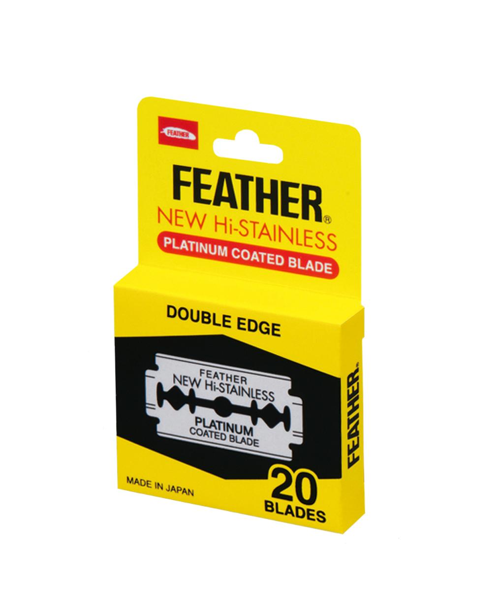 Feather Двусторонние лезвия 81S-2, 20 штукS1032905Обоюдоострые лезвия из высококлассной нержавеющей стали с платиновым покрытием. В диспенсере 20 лезвий. Подходят не только для бритв Feather.