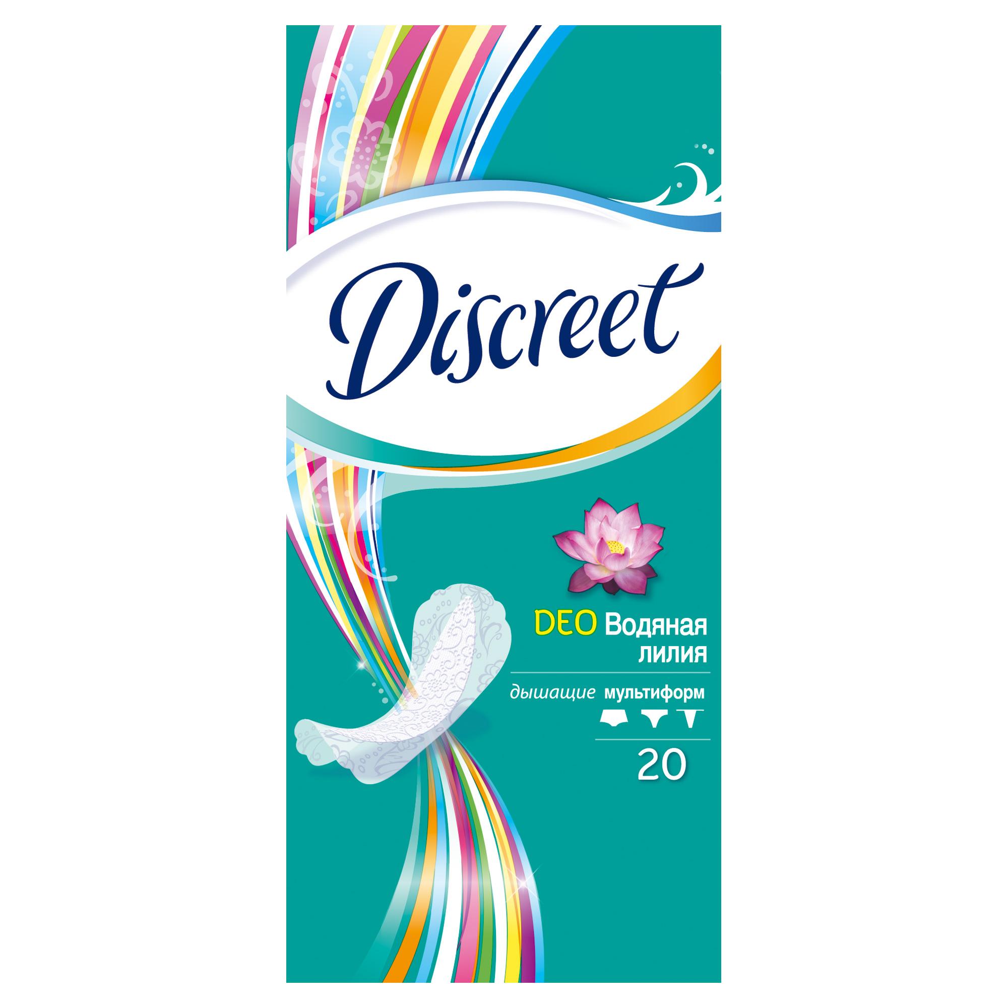 Discreet Женские гигиенические прокладки на каждый день Deo Water Lily Multiform Single 20шт