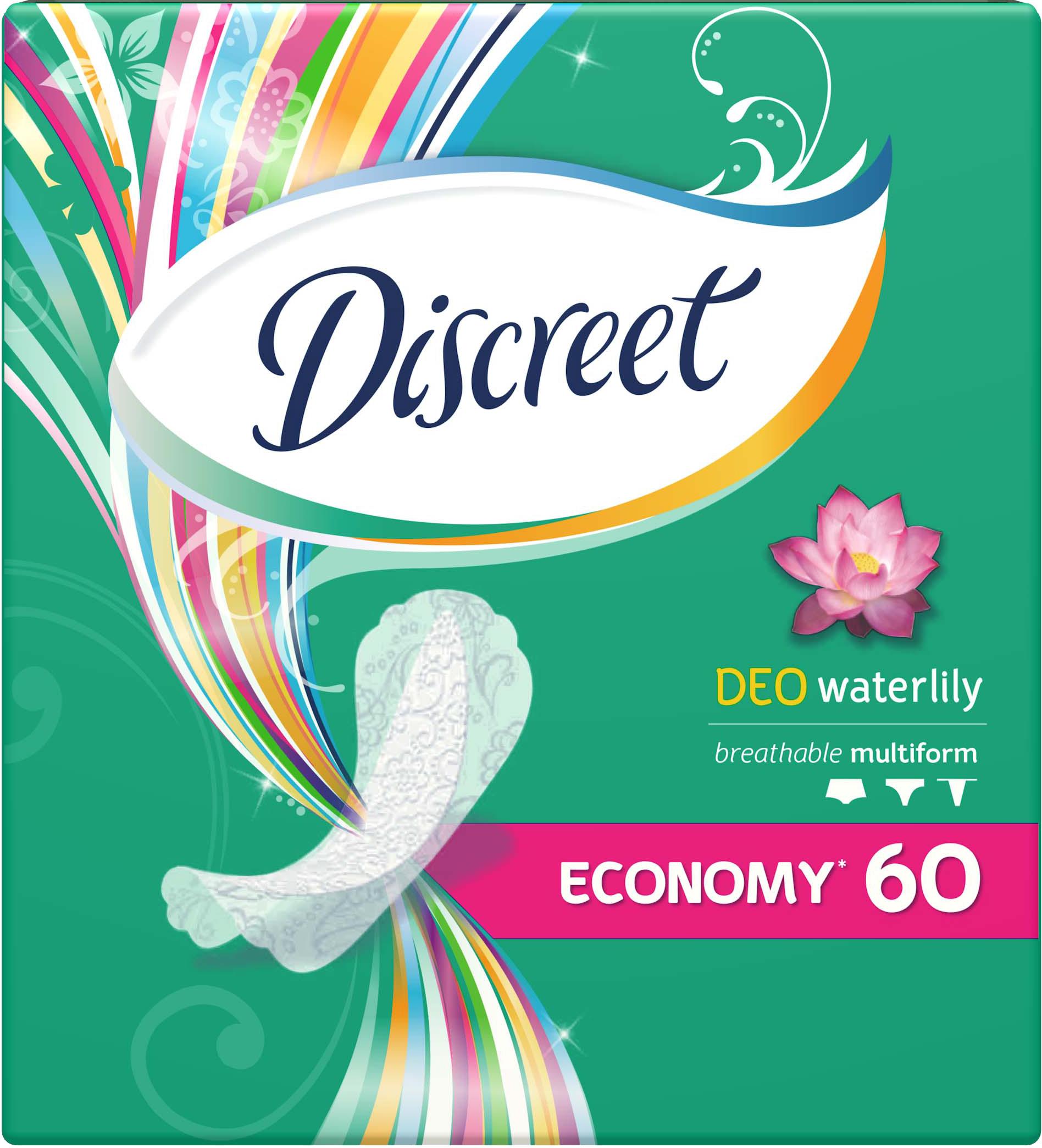 Discreet Женские гигиенические прокладки на каждый день Deo Water Lily Multiform Trio 60шт AD-83728313