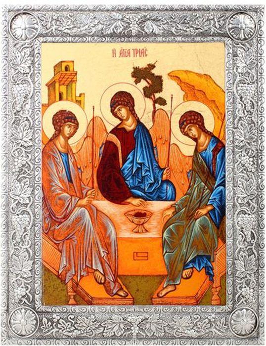 "Икона Артола ""Святая Троица"", 11,5 см х 15,5 см х 1 см IR-ST-P1F"