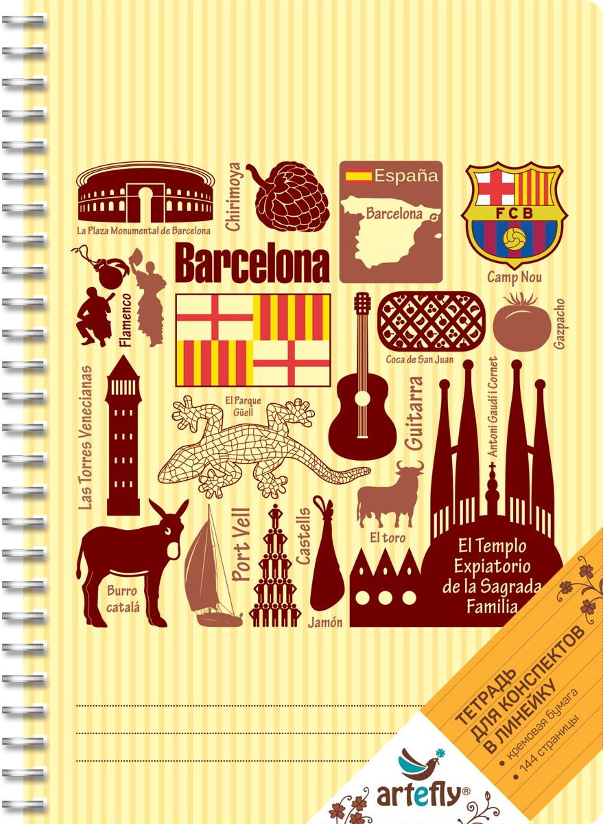 Artefly Тетрадь Барселона 72 листа в линейкуAFNB-CT2-YEТетрадь в линейку для ведения записей. Красивая и яркая обложка раскрасит твои студенческие будни, такую тетрадь удобно использовать для конспектов. Приятная бумага кремового цвета не оставит тебя равнодушным.