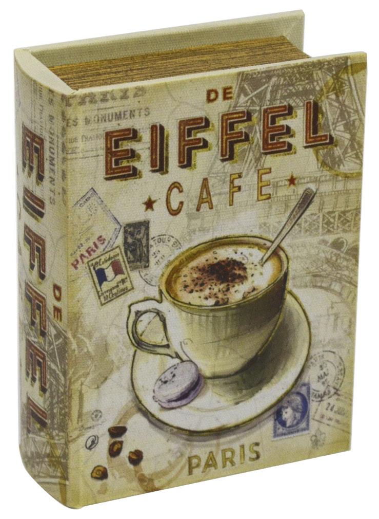 Шкатулка для рукоделия Кафе в Париже, 15 х 11 х 4,5 см771516402Шкатулка Кафе в Париже изготовлена из МДФ, картона и холщовой ткани и оснащена крышкой. Изделие декорировано изображением кофейной чашки. Внутри шкатулка обтянута тканью коричневого цвета. Изящная шкатулка с ярким дизайном предназначена для хранения мелочей, принадлежностей для шитья и творчества и других аксессуаров. Она красиво оформит интерьер комнаты и поможет хранить ваши вещи в порядке.
