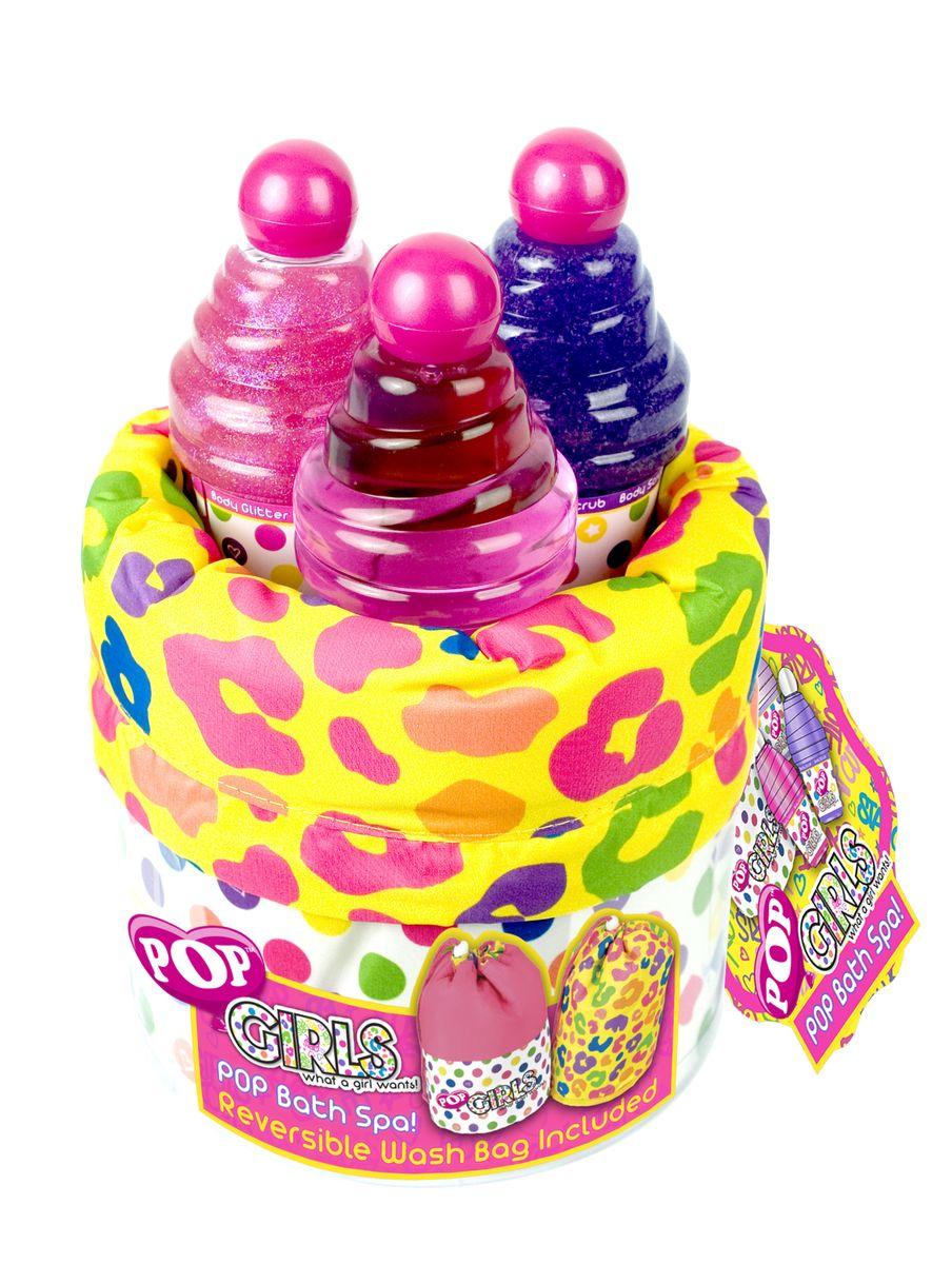 Markwins Игровой набор детской декоративной косметики для душа POP1301210Состав набора: крем для тела 1 шт., гель для душа 1 шт., мерцающий гель для тела с блёстками 1 шт., сумочка для душа 1 шт.