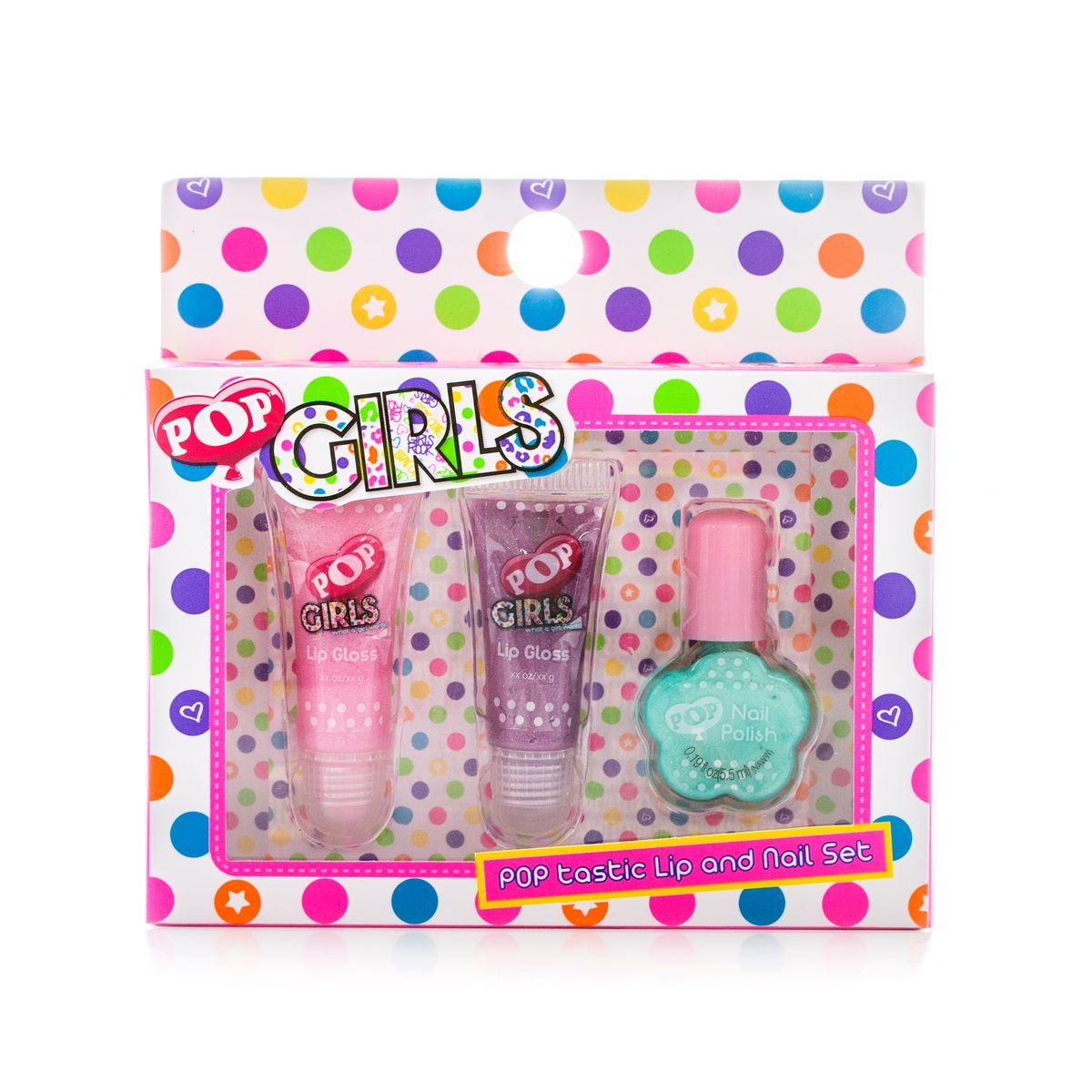 Markwins Игровой набор детской декоративной косметики для губ и ногтей POPGESS-131Состав набора: блески для губ в тубах 2 шт., лак на водной основе для ногтей 1 шт.