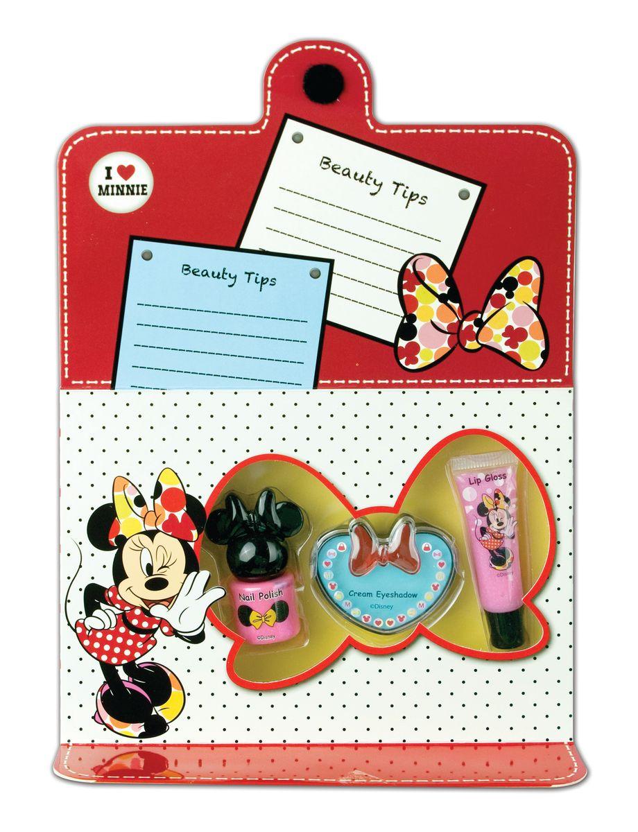 Markwins Игровой набор детской декоративной косметики для лица и ногтей MinnieGESS-131Состав набора: блеск для губ в тубе 1 шт., кремовые тени для век 1 шт., лак на водной основе для ногтей 1 шт.