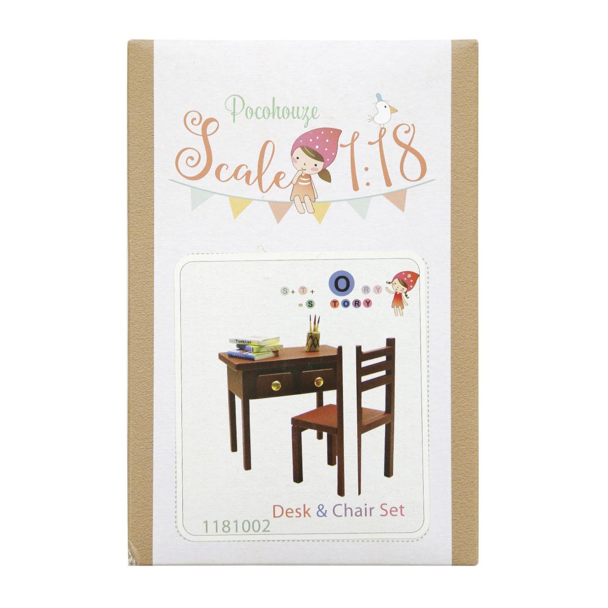 Набор для изготовления миниатюры Pocohouse Стол и стул. 1181002 бернадетт куксарт лепим мебель для кукольного дома