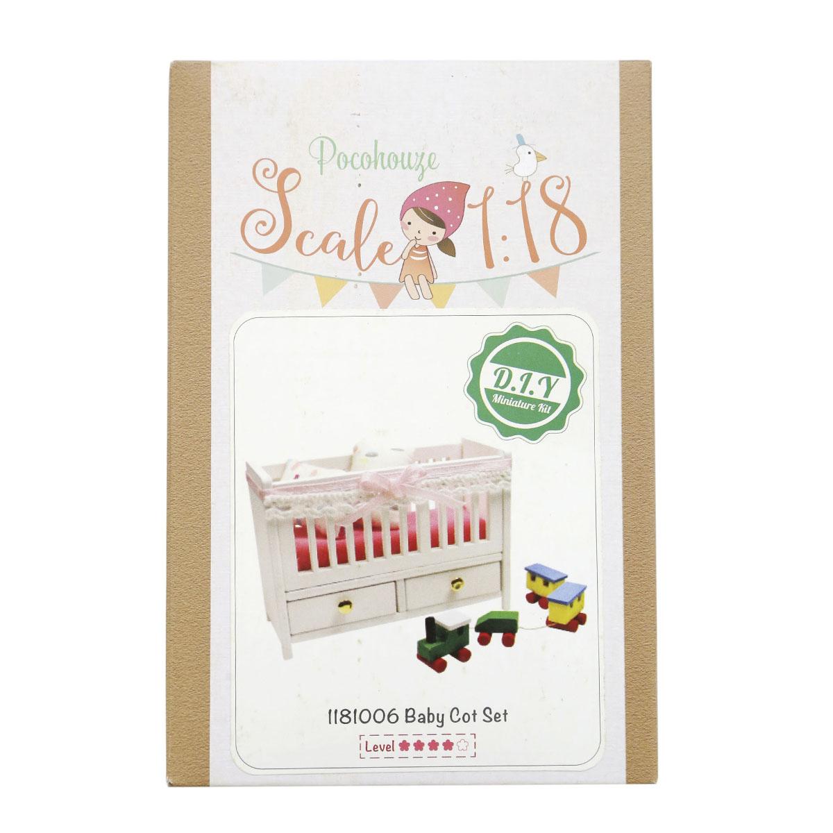 Набор для изготовления миниатюры Pocohouse Детская кроватка. 1181006 бернадетт куксарт лепим мебель для кукольного дома