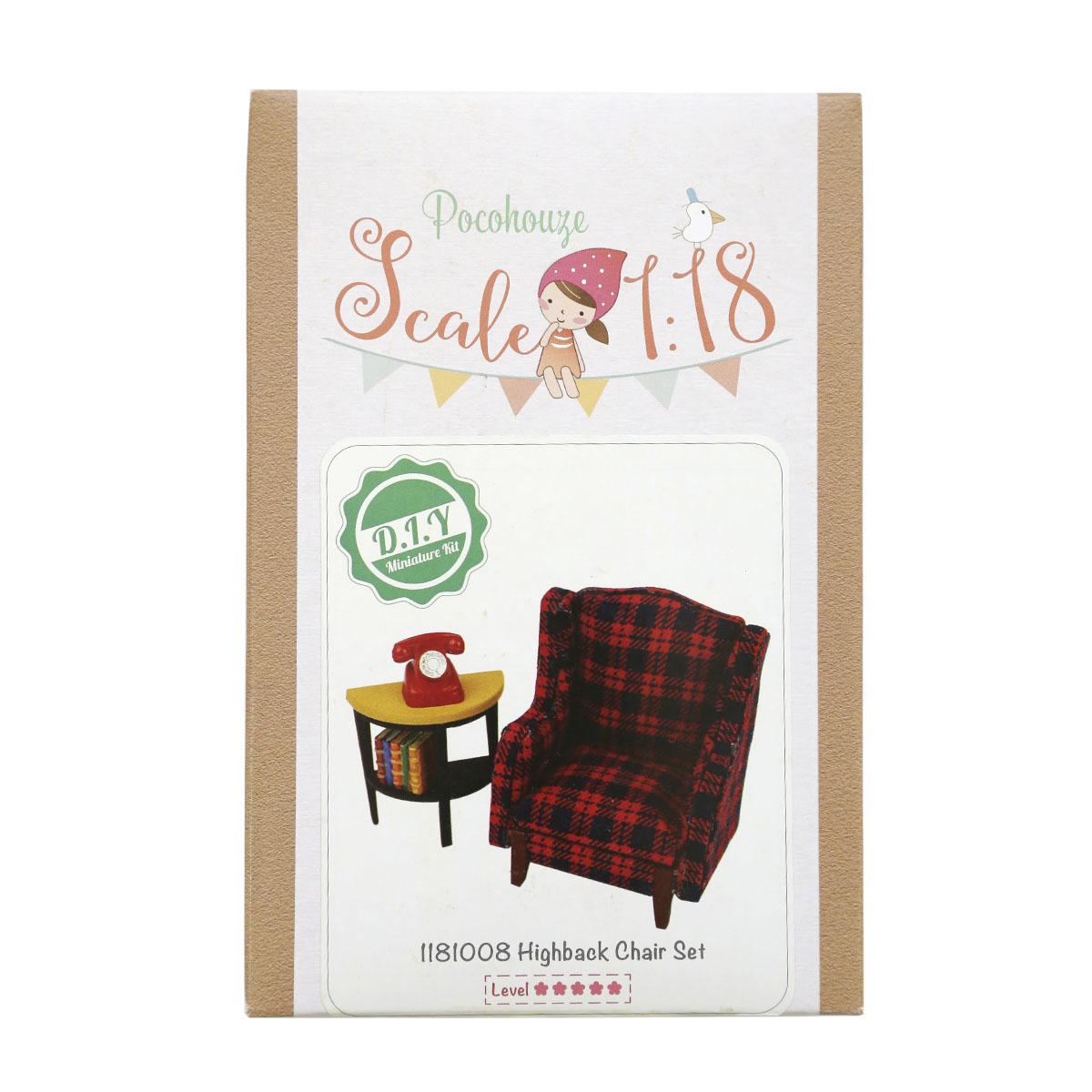 Набор для изготовления миниатюры Pocohouse Кресло и столик. 1181008 бернадетт куксарт лепим мебель для кукольного дома