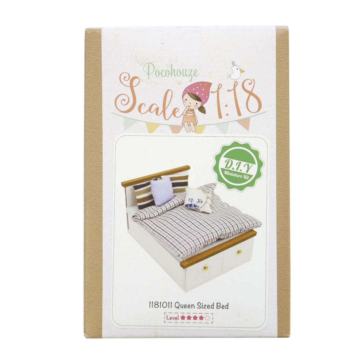 Набор для изготовления миниатюры Pocohouse Спальная кровать. 1181011 бернадетт куксарт лепим мебель для кукольного дома