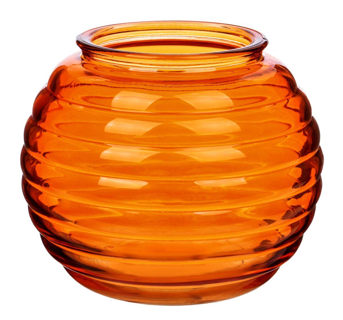 Ваза Nina Glass Зара, цвет: оранжевыйNG92-006_оранжевыйПосуду нельзя использовать в СВЧ и мыть в ПММ.