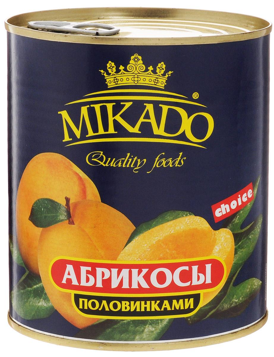 Mikado Абрикосы половинками очищенные в сиропе, 850 мл4007415005602Половинки абрикосов Mikado, очищенные в сахарном сиропе.
