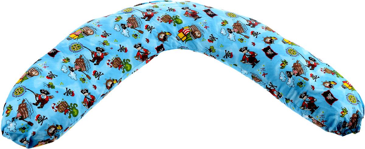 """Подушка для кормящих и беременных мам """"Selby"""", универсальная, большая, 80 х 57 х 13 см 5536_голубой/0005536"""