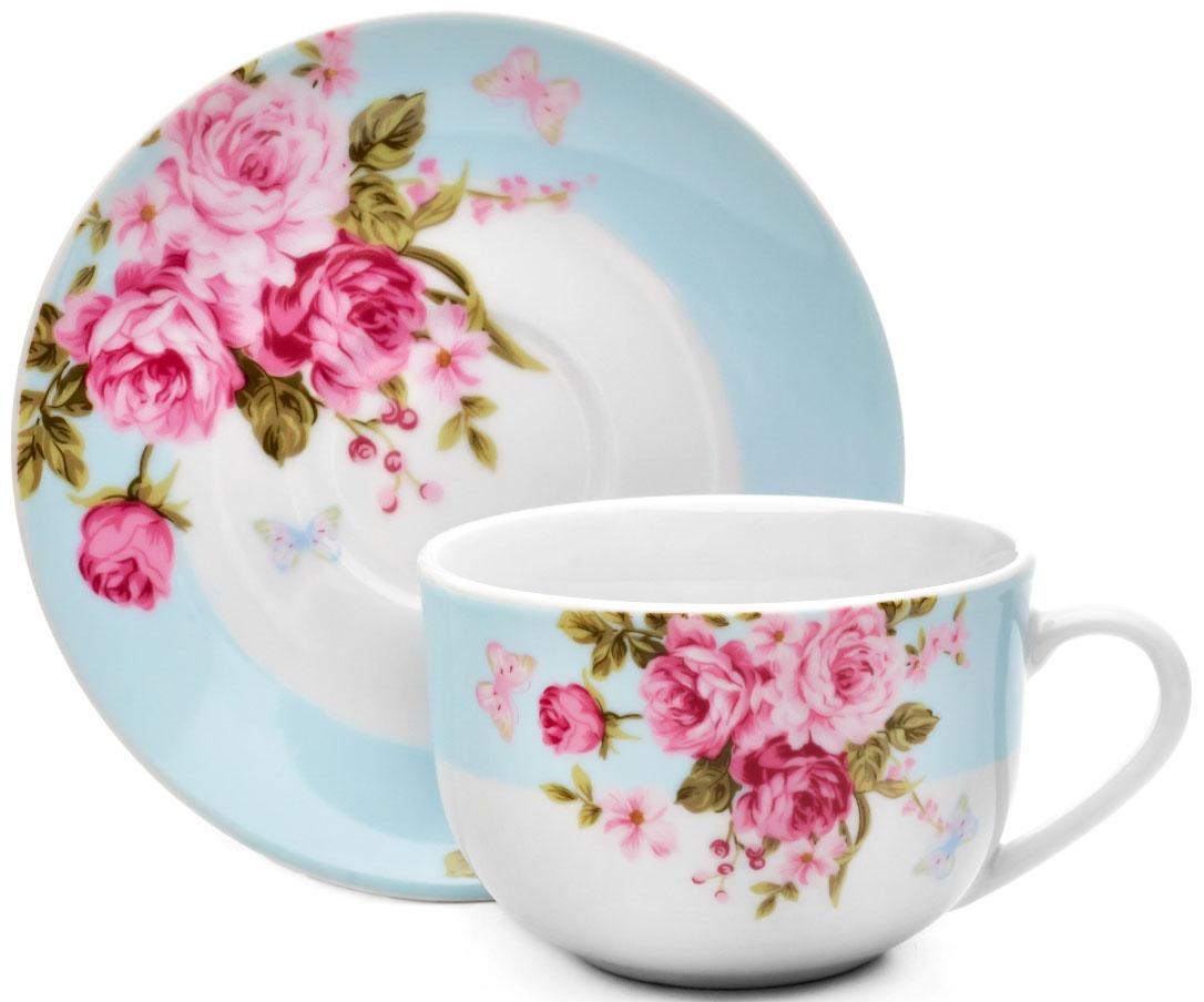 Чайная пара Walmer Mirabella, цвет: голубой, 220 млW19770022Чайная пара Walmer Mirabella состоит из чашки и блюдца, изготовленных из высококачественного фарфора и оформленных цветочным рисунком. Яркий дизайн, несомненно, придется вам по вкусу. Чайная пара Walmer Mirabella украсит ваш кухонный стол, а также станет замечательным подарком к любому празднику. Объем чашки: 220 мл. Высота чашки: 7 см. Диаметр блюдца: 15 см.