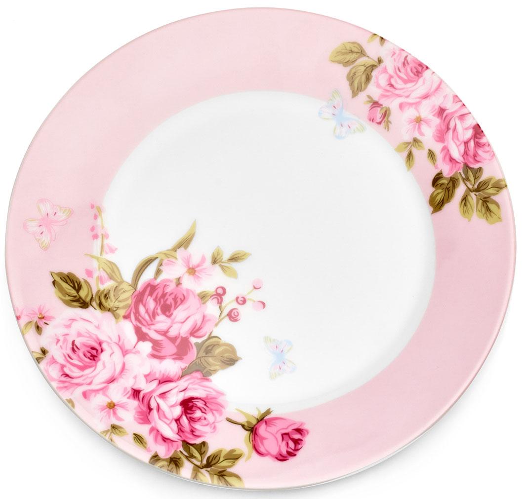 Тарелка десертная Walmer Mirabella, цвет: розовый, диаметр 19 смW19830019Десертная тарелка Walmer Mirabella изготовлена из экологически чистого фарфора. Изделие оформлено цветочным орнаментом. Такая тарелка прекрасно подходит как для торжественных случаев, так и для повседневного использования. Идеальна для подачи десертов, пирожных, тортов. Она прекрасно оформит стол и станет отличным дополнением к вашей коллекции кухонной посуды. Можно использовать в посудомоечной машине и СВЧ. Диаметр (по верхнему краю): 19 см. Высота стенки: 2 см.