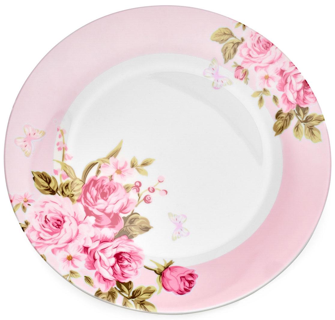 Тарелка обеденная Walmer Mirabella, цвет: розовый, диаметр 27 смW19830027Обеденная тарелка Walmer Mirabella изготовлена из экологически чистого фарфора. Изделие оформлено цветочным орнаментом. Такая тарелка прекрасно подходит как для торжественных случаев, так и для повседневного использования. Можно использовать в посудомоечной машине и СВЧ. Диаметр (по верхнему краю): 27 см. Высота стенки: 3 см.