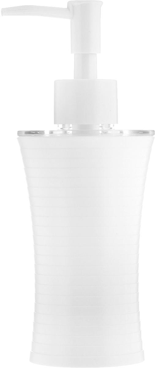 Дозатор для жидкого мыла Vanstore Style, цвет: белый, 200 мл313-03Дозатор для жидкого мыла Vanstore Style, изготовленный из пластика, отлично подойдет для вашей ванной комнаты. Такой аксессуар очень удобен в использовании, достаточно лишь перелить жидкое мыло в дозатор, а когда необходимо использование мыла, легким нажатием выдавить нужное количество. Дозатор для жидкого мыла Vanstore Style создаст особую атмосферу уюта и максимального комфорта в ванной. Высота дозатора: 18,5 см.