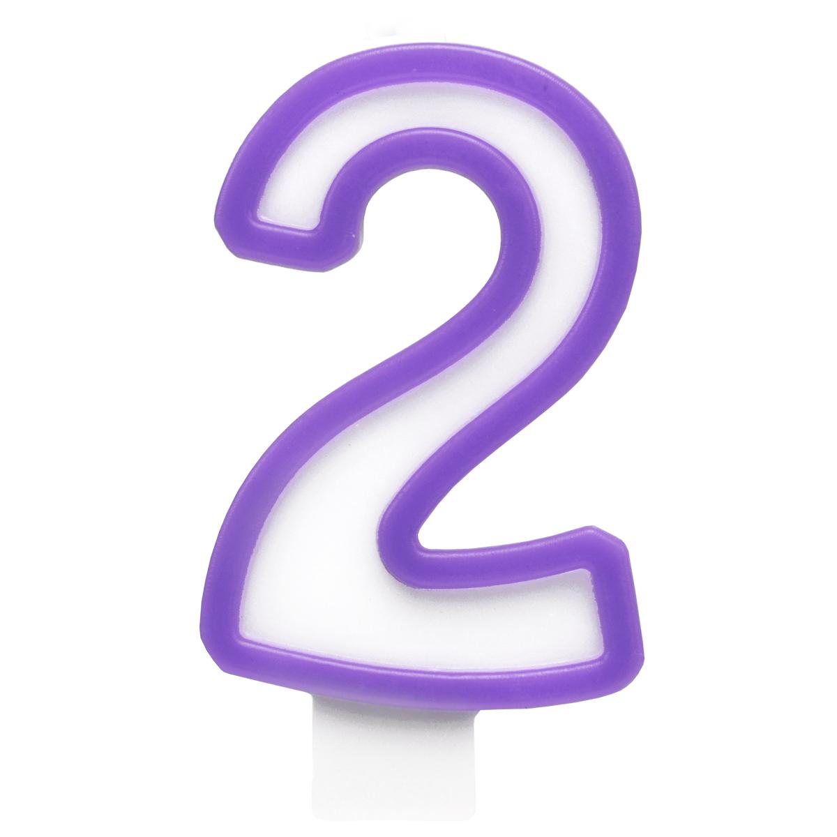 Action! Свеча-цифра для торта 2 лет