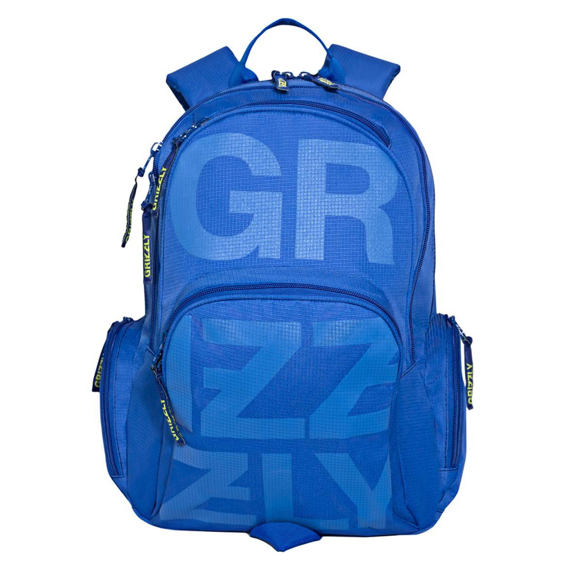 Рюкзак молодежный Grizzly, цвет: синий. 26 л. RU-706-1/1RU-706-1/1Рюкзак молодежный, два отделения, карман на молнии на передней стенке, объемный карман на молнии на передней стенке, объемные боковые карманы на молнии, внутренний карман-пенал для карандашей, внутренний карман под гаджет и карман на молнии, жесткая анатомическая спинка, дополнительная ручка-петля, укрепленные лямки
