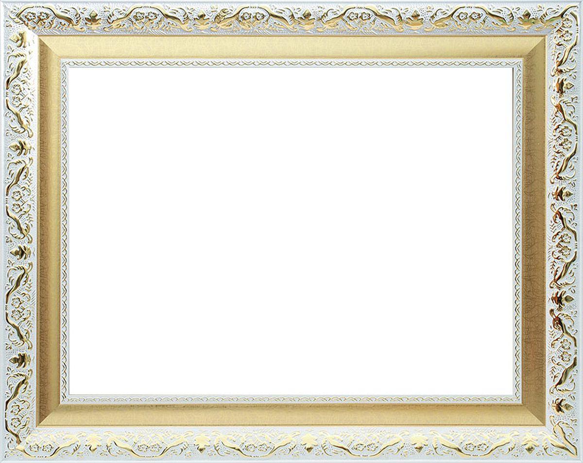 Рама багетная Белоснежка Patricia, цвет: белый, золотой, 40 х 50 см2345-BBБагетная рама Белоснежка Patricia изготовлена из пластика, окрашенного в белый цвет. Багетные рамы предназначены для оформления картин, вышивок и фотографий. Если вы используете раму для оформления живописи на холсте, следует учесть, что толщина подрамника больше толщины рамы и сзади будет выступать, рекомендуется дополнительно зафиксировать картину клеем, лист-заглушку в этом случае не вставляют. В комплект входят рама, два крепления на раму, дополнительный держатель для холста, подложка из оргалита, инструкция по использованию.