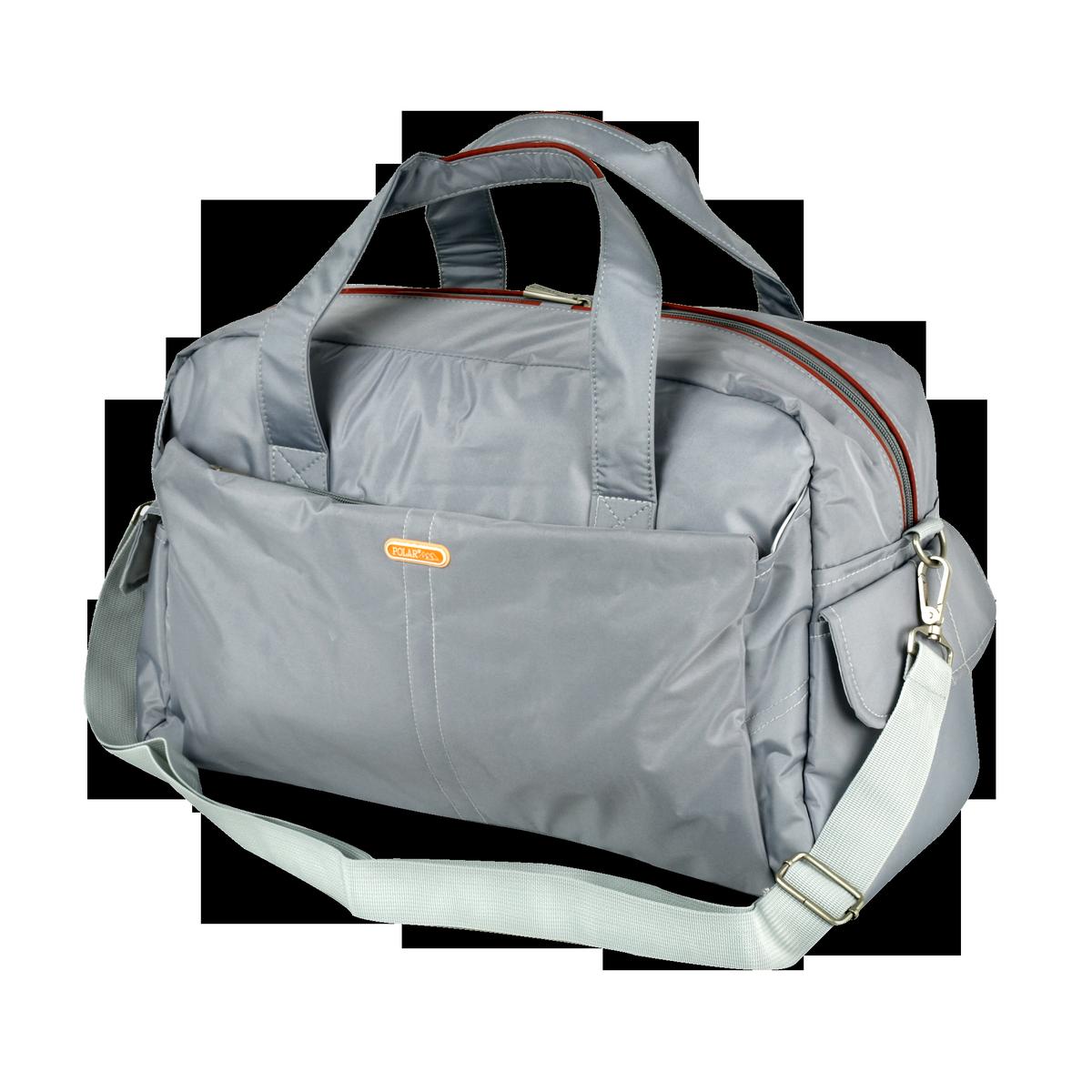 Сумка спортивная Polar, цвет: светло-серый, 20,5 л. 1119373298с-1Спортивная сумка Polar выполнена из нейлона. Основное отделение на застежке-молнии. Внутри расположены два открытых кармана для телефона и ключей, а также мелких принадлежностей. У сумки имеются боковые карманы, два кармана на молнии спереди и сзади сумки. Изделие оснащено двумя удобными текстильными ручками и съемным текстильным плечевым ремнем.