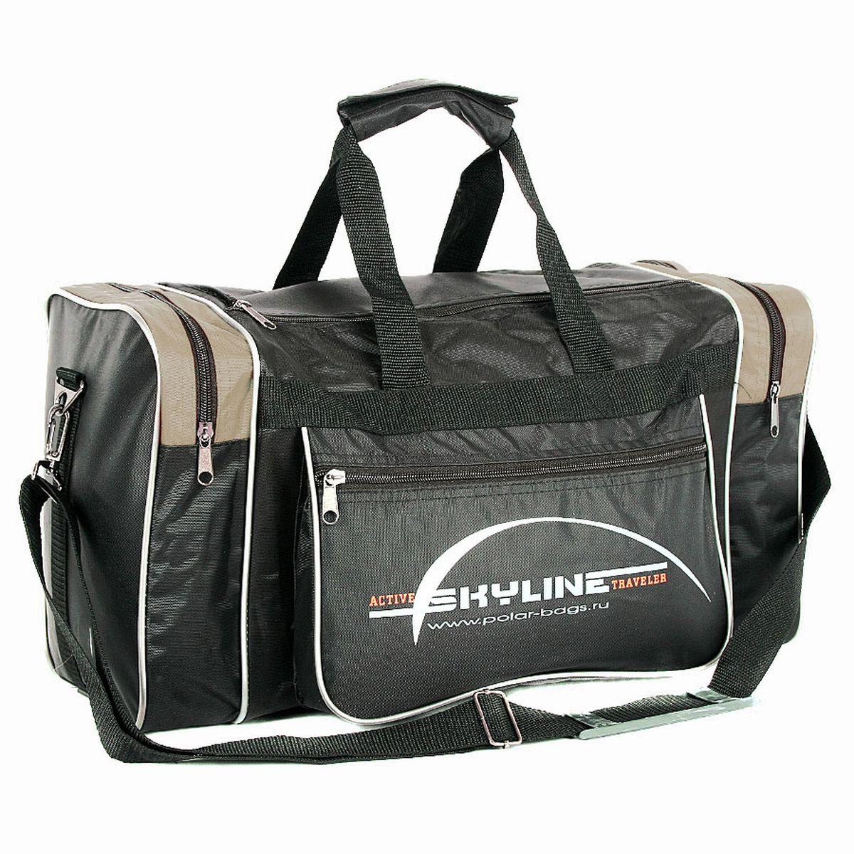 Сумка спортивная Polar, цвет: черный, бежевый, 23 л. 60096009_черный, бежевыйМатериал – полиэстер с водоотталкивающей пропиткой. Вместительная спортивная сумка среднего размера. Одно отделение. Два боковых кармана и два кармана на передней части. В комплект входит съемный плечевой ремень. Эта сумка идеально подойдет для спорта и отдыха. Спортивная сумка для ваших вещей.