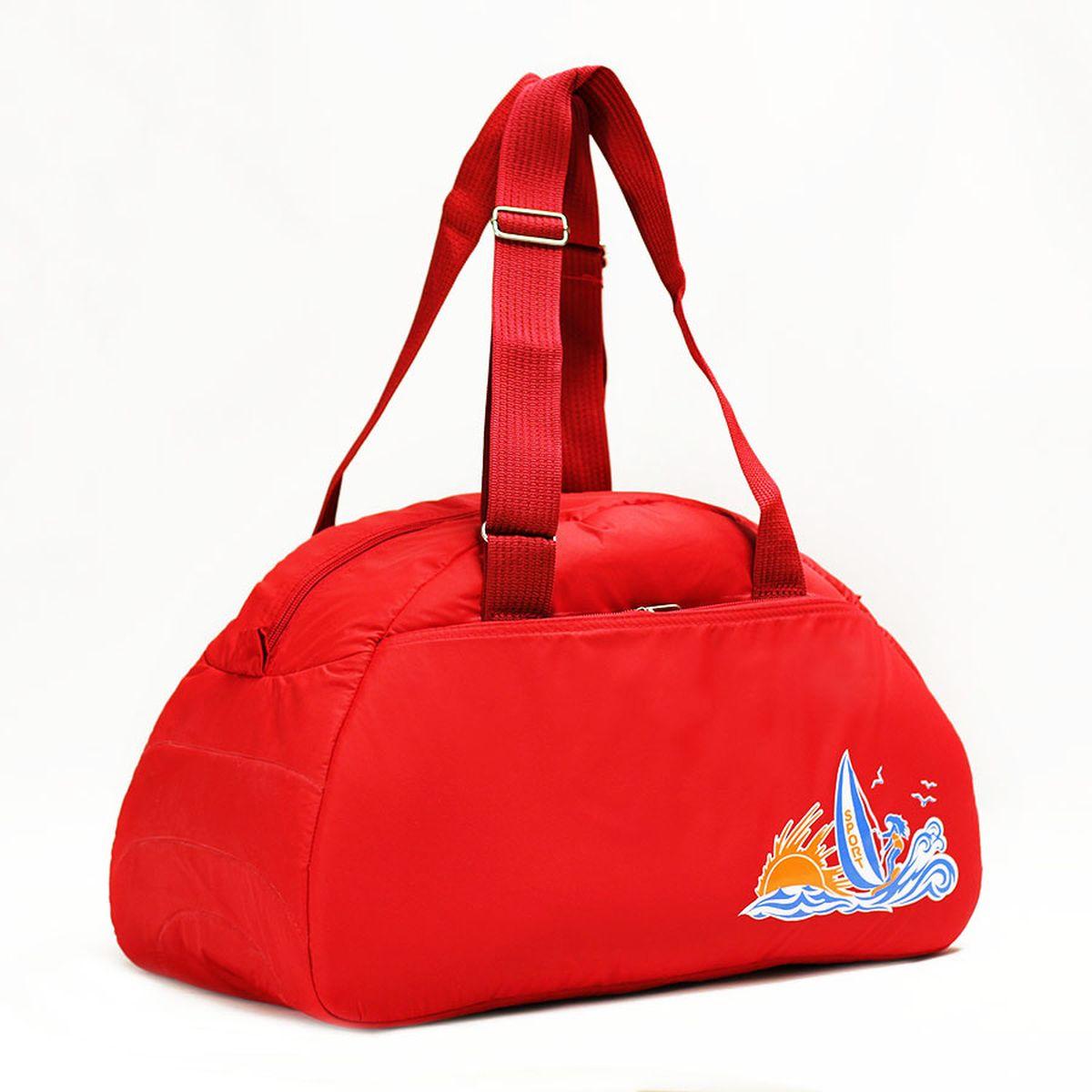 Сумка спортивная Polar, цвет: красный, 28 л. 60206020_красныйСпортивная сумка имеет одно большое отделение, внутри которого один карман на молнии. Снаружи один большой карман на молнии. Длина ручек регулируется по необходимой длине, что позволяет носить сумку как в руках, так и на плече. \Максимальная высота ручек- 35 см. Съемного плечевого ремня нет.