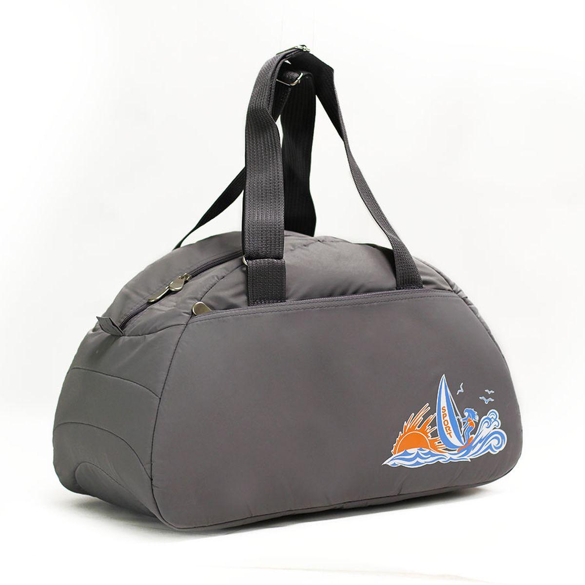 Сумка спортивная Polar, цвет: серый, 28 л. 60206020_серыйСпортивная сумка имеет одно большое отделение, внутри которого один карман на молнии. Снаружи один большой карман на молнии. Длина ручек регулируется по необходимой длине, что позволяет носить сумку как в руках, так и на плече. \Максимальная высота ручек- 35 см. Съемного плечевого ремня нет.