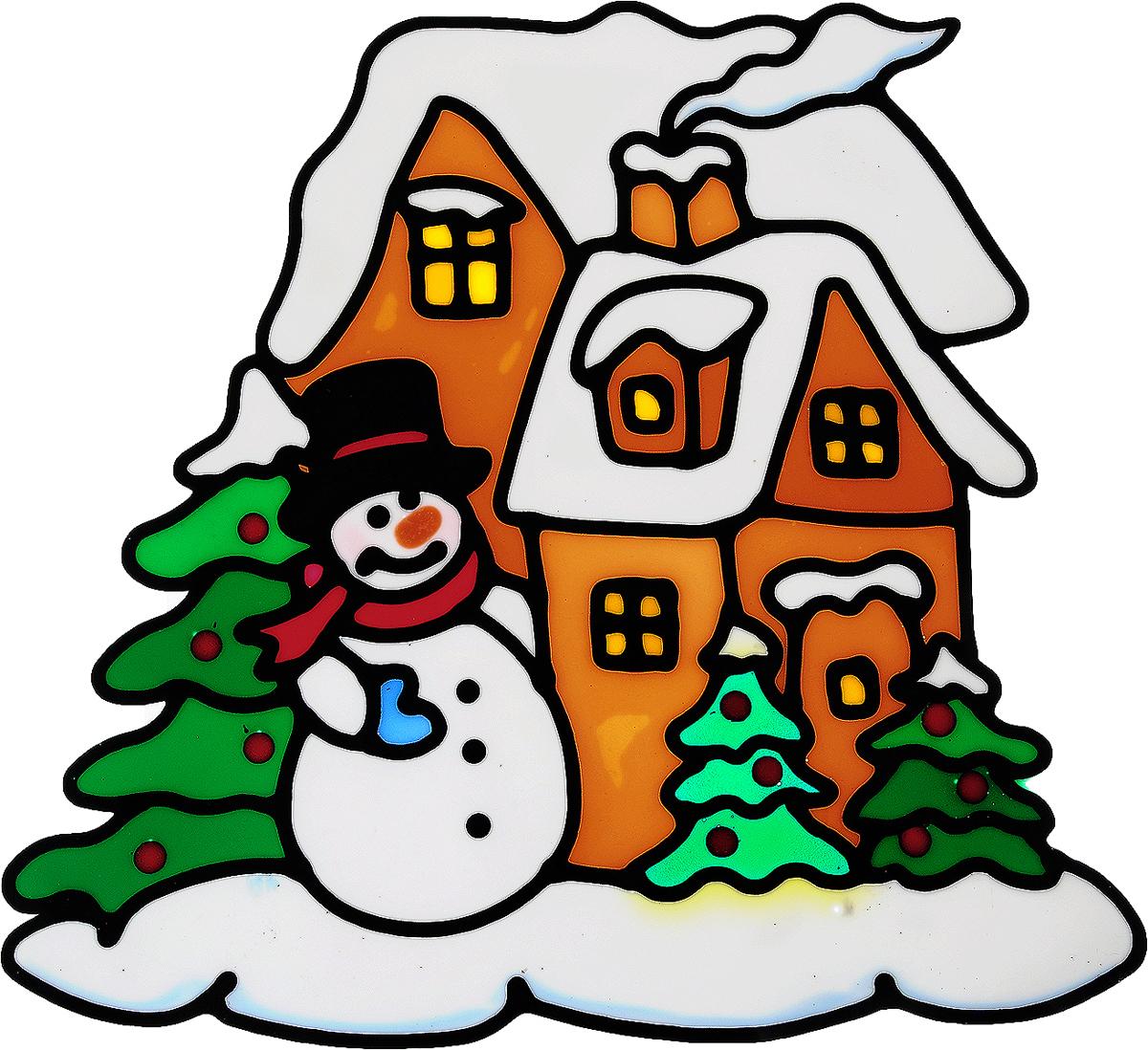 Украшение новогоднее оконное Winter Wings Снеговик у домика, 22 х 21 смN09319Новогоднее оконное украшение Winter Wings Снеговик у домика поможет украсить дом к предстоящим праздникам. Наклейка изготовлена из ПВХ. С помощью этих украшений вы сможете оживить интерьер по своему вкусу, наклеить их на окно, на зеркало или на дверь. Новогодние украшения всегда несут в себе волшебство и красоту праздника. Создайте в своем доме атмосферу тепла, веселья и радости, украшая его всей семьей. Размер наклейки: 22 х 21 см.