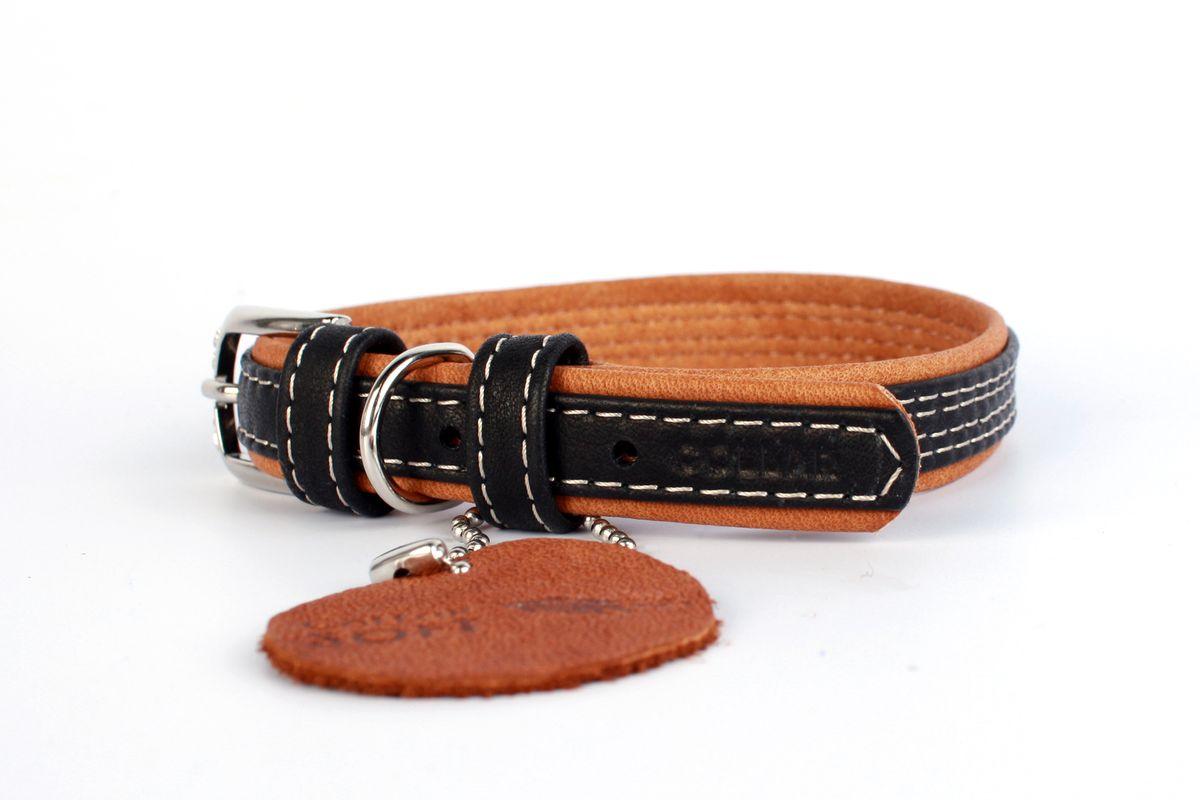 Ошейник CoLLaR SOFT цвет: черный, ширина 15 мм, длина 27-36 см7188Ошейник CoLLaR SOFT чёрный верх (ширина 15мм, длина 27-36см)