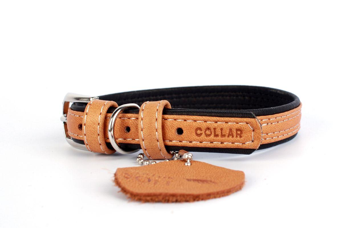 Ошейник CoLLaR SOFT, цвет верха: коричневый, ширина 15 мм, длина 27-36 см. 71890120710Ошейник CoLLaR SOFT коричневый верх (ширина 15мм, длина 27-36см)