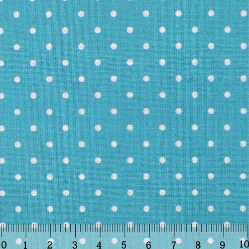 Ткань Кустарь Горошек 2 мм, цвет: бирюзовый, 48 х 50 см. AM556014AM556014Ткань Кустарь - это высококачественная ткань из 100% хлопка, которая отлично подходит для пошива покрывал, сумок, панно, одежды, кукол. Также подходит для рукоделия в стиле скрапбукинг и пэчворк. Плотность ткани: 120 г/м2. Размер: 48 х 50 см.
