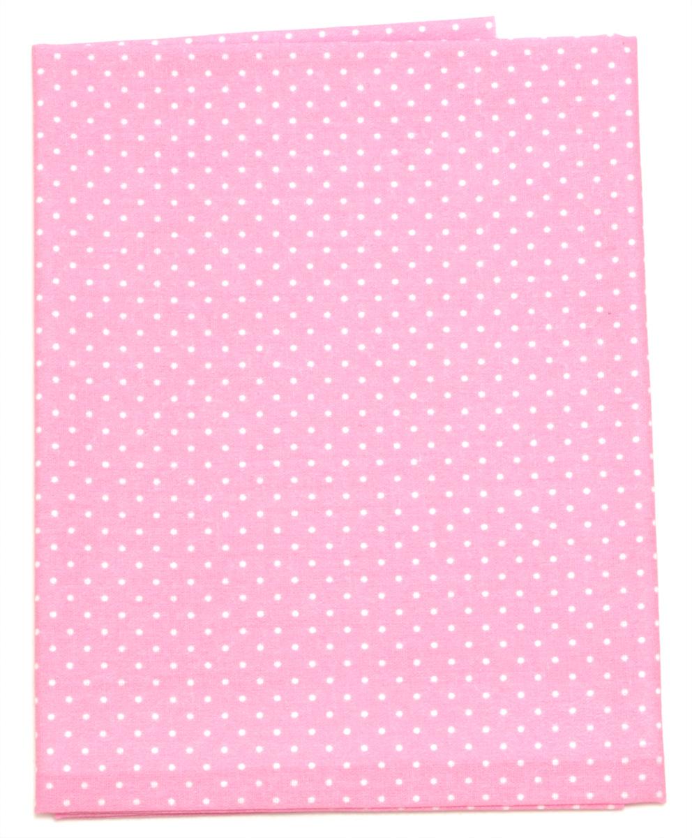 Ткань Кустарь Горошек 2 мм, цвет: розовый, 48 х 50 см. AM55602209840-20.000.00Ткань Кустарь - это высококачественная ткань из 100% хлопка, которая отлично подходит для пошива покрывал, сумок, панно, одежды, кукол. Также подходит для рукоделия в стиле скрапбукинг и пэчворк.Плотность ткани:120 г/м2. Размер: 48 х 50 см.