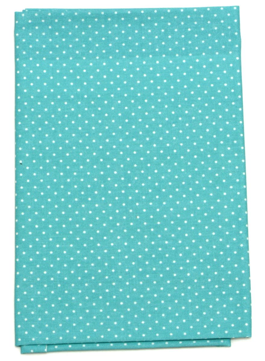Ткань Кустарь Мелкий горошек, цвет: бирюзовый, 48 х 50 см. AM555013AM555013Ткань Кустарь - это высококачественная ткань из 100% хлопка, которая отлично подходит для пошива покрывал, сумок, панно, одежды, кукол. Также подходит для рукоделия в стиле скрапбукинг и пэчворк. Плотность ткани: 120 г/м2. Размер: 48 х 50 см.