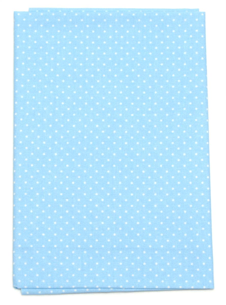 Ткань Кустарь Мелкий горошек, цвет: голубой, 48 х 50 см. AM555019AM555019Ткань Кустарь - это высококачественная ткань из 100% хлопка, которая отлично подходит для пошива покрывал, сумок, панно, одежды, кукол. Также подходит для рукоделия в стиле скрапбукинг и пэчворк. Плотность ткани: 120 г/м2. Размер: 48 х 50 см.