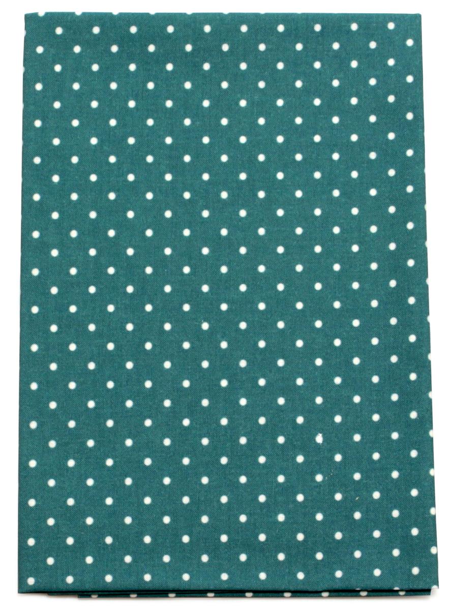 Ткань Кустарь Горошек 2 мм, цвет: изумруд, 48 х 50 см. AM556011AM556011Ткань Кустарь - это высококачественная ткань из 100% хлопка, которая отлично подходит для пошива покрывал, сумок, панно, одежды, кукол. Также подходит для рукоделия в стиле скрапбукинг и пэчворк. Плотность ткани: 120 г/м2. Размер: 48 х 50 см.