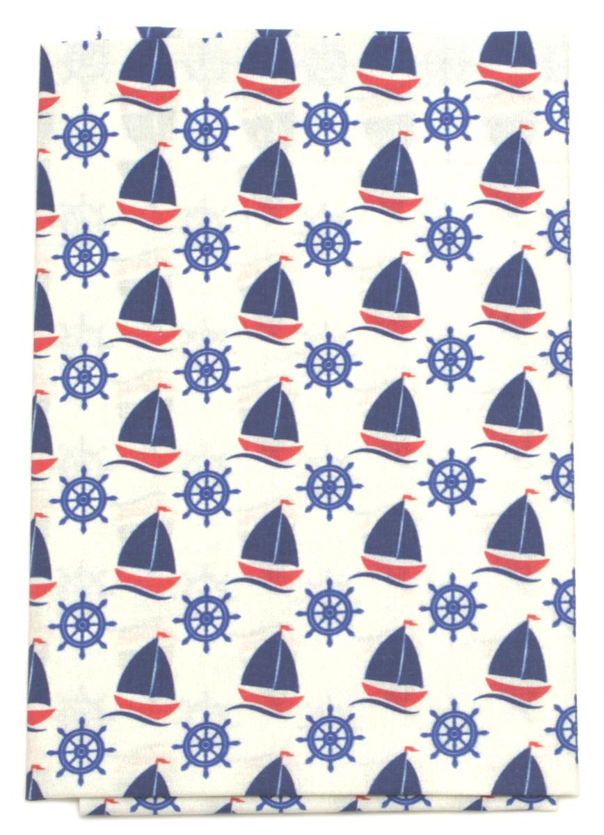 Ткань Кустарь Морская коллекция №1, 48 х 50 см. AM602001KT002AТкань Кустарь - это высококачественная ткань из 100% хлопка, которая отлично подходит для пошива покрывал, сумок, панно, одежды, кукол. Также подходит для рукоделия в стиле скрапбукинг и пэчворк.Плотность ткани:120 г/м2. Размер: 48 х 50 см.