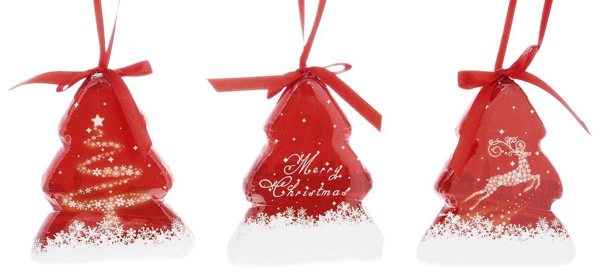 Набор новогодних подвесных украшений Winter Wings Елочки. Снежный олень, 3 штN180948Набор Winter Wings Елочки. Снежный олень состоит из 3 подвесных украшений, выполненных из прессованного картона. Оригинальные новогодние украшения прекрасно подойдут для праздничного декора дома и новогодней ели. С помощью специальной петельки их можно повесить в любом понравившемся вам месте. Но, конечно, удачнее всего такие игрушки будут смотреться на праздничной елке. Елочная игрушка - символ Нового года и Рождества. Она несет в себе волшебство и красоту праздника. Создайте в своем доме атмосферу веселья и радости, украшая новогоднюю елку нарядными игрушками, которые будут из года в год накапливать теплоту воспоминаний. Материалы: прессованный картон, текстиль. Размер украшения: 7,5 х 1,5 х 9 см.