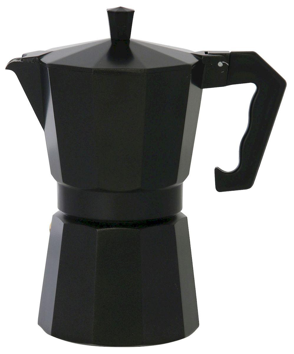 Кофеварка Axentia для Espresso, цвет: черный, на 6 чашек122246Гейзерная кофеварка Axentia позволит вам приготовить ароматный кофе Espresso на 6 персон. Корпус кофеварки изготовлен из высококачественного литого алюминия. Кофеварка состоит из двух соединенных между собой емкостей и снабжена алюминиевым фильтром-перколятором, который сохраняет аромат кофе. Данная модель предельно проста в использовании, в ней отсутствуют подвижные части и нагревательные элементы, поэтому в ней нечему ломаться. Гейзерные кофеварки являются самыми популярными в мире и позволяют приготовить ароматный кофе за считанные минуты. Основной принцип действия гейзерной кофеварки состоит в том, что напиток заваривается путем прохождения горячей воды через слой молотого кофе. В нижнюю часть гейзерной кофеварки заливается вода, в промежуточную часть засыпается молотый кофе, кофеварка ставится на огонь или электрическую плиту. Закипая, вода начинает испаряться и превращается в пар. Избыточное давление пара в нижней части кофеварки...