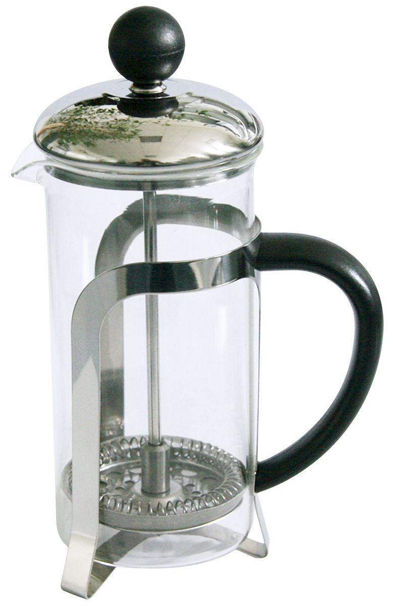 Френч-пресс Axentia Chiasso, 1 л94672Френч-пресс Axentia Chiasso, выполненный из стекла, пластика и нержавеющей стали, практичный и простой в использовании. Засыпая чайную заварку под фильтр и заливая ее горячей водой, вы получаете ароматный чай с оптимальной крепостью и насыщенностью. Остановить процесс заварки чая легко. Для этого нужно просто опустить поршень, и заварка уйдет вниз, оставляя вверху напиток, готовый к употреблению. Современный дизайн полностью соответствует последним модным тенденциям в создании предметов бытовой техники.