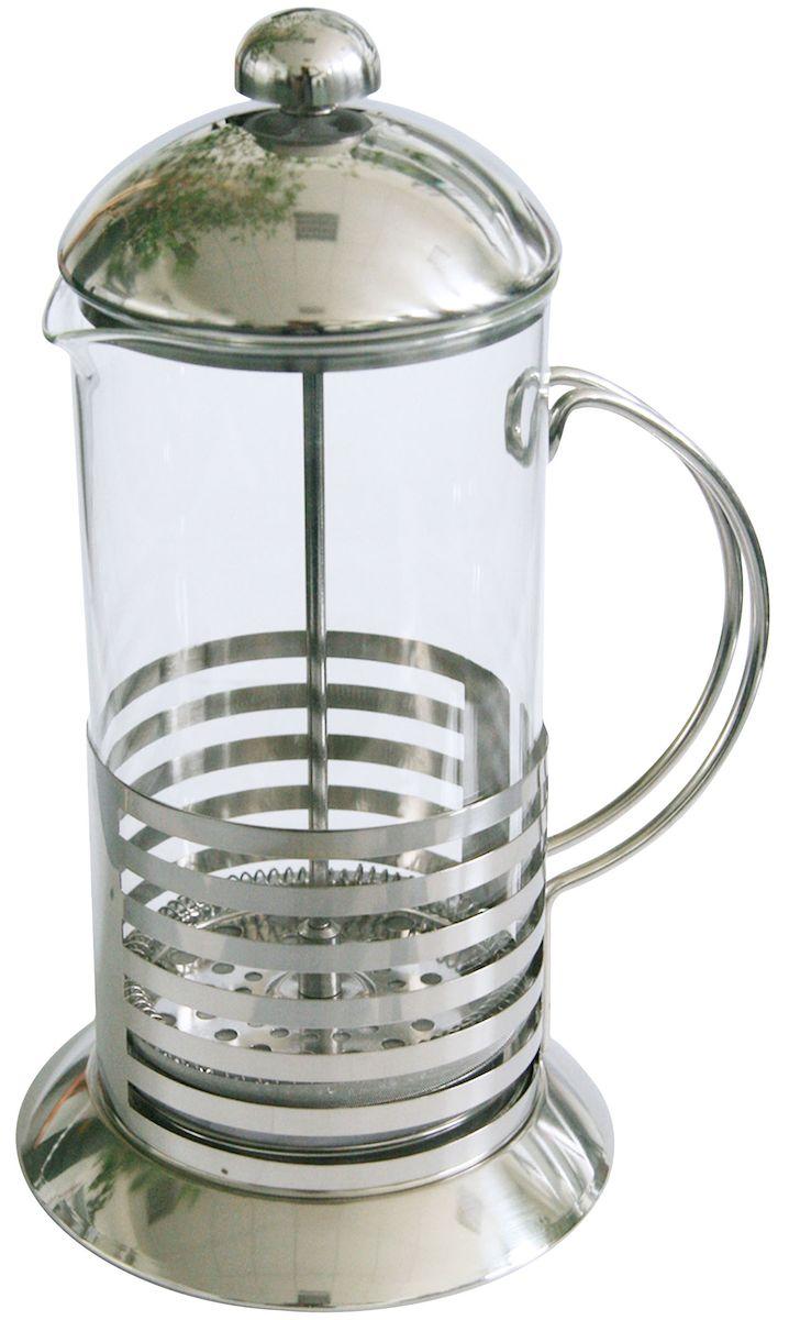 Френч-пресс Axentia Tebino, 600 млVT-1520(SR)Френч-пресс Axentia Tebino, выполненный из стекла и нержавеющей стали, практичный и простой в использовании. Засыпая чайную заварку под фильтр и заливая ее горячей водой, вы получаете ароматный чай с оптимальной крепостью и насыщенностью. Остановить процесс заварки чая легко. Для этого нужно просто опустить поршень, и заварка уйдет вниз, оставляя вверху напиток, готовый к употреблению. Современный дизайн полностью соответствует последним модным тенденциям в создании предметов бытовой техники.
